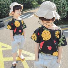 (即納♡)(kids☆)フルーツ総柄Tシャツ&デニムショーパン2点SET