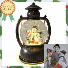 クリスマス 飾り LED ライトオブジェ カンテラ スノーマン 置物  i0290