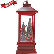 クリスマス 飾り サンタクロース LEDライト オブジェ 置物 ガラス インテリア i0306