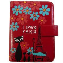 パスポートケース レッド キャット 8604