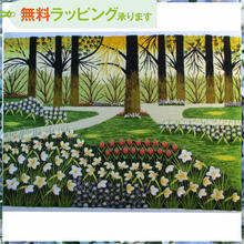 刺繍絵 アート ハンドメイド 芸術 作品 ベトナム 雑貨 ガーデン vi0013