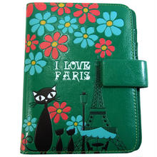 パスポートケース グリーン キャット 8605