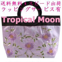 トートバッグ レディース パステルピンク 花 刺繍 ハンドメイド ベトナム 雑貨 v1072