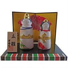 ミニ おひなさま 立雛 陶器 ハンドメイド 雛飾り i0238