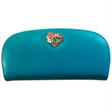 長財布 レディース ブルー 8609