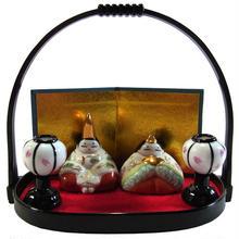 ミニ 雛飾り おひなさま 白磁 陶器 i0233