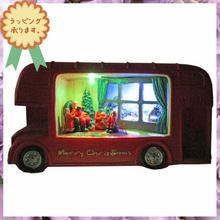 クリスマス 飾り LED ライトオブジェ 置物 ロンドンバス i0286