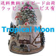 クリスマス オルゴール LED ライト スノードーム ウォータードーム ハンドメイド i0263