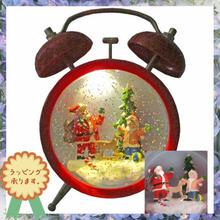 クリスマス 飾り LED ライトオブジェ サンタクロース ミュージックボックス 置物  i0291
