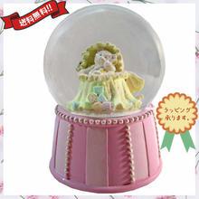 ウォーターボール オルゴール 出産祝い 女の子 ピンク テディベア プレゼント i0298