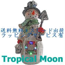 クリスマス オーナメント スノーマン LED ライト 飾り オブジェ 置物 i0271