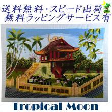 刺繍絵 アート ハンドメイド 芸術 作品 ベトナム 雑貨 蓮池のあずま屋 vi0005