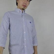 ネバートラスト Solid Stripe7分袖BDシャツ