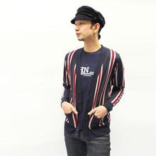 オリジナルJOHN STRIPE CARDIGAN NAVY