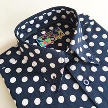 MADCAPペニードットボタンダウンシャツ〈ネイビー〉