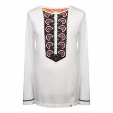 プリティーグリーンHR LS MARSHALプリントヘンリーネックTシャツ