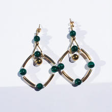 Ciita--SOLSTICE earrings 緑