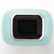 Enamel ring right blue x green