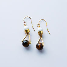 ciita-PARTICLE EARRINGS - GOLDxBROWN