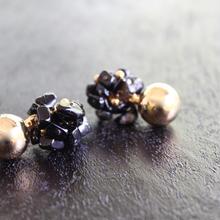 Ciita--Blossom Earrings Onyx