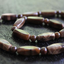Stone necklace brown