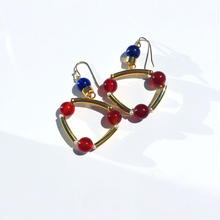 Ciita--TRIANGLE earrings  RED x BLUE