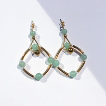 Ciita--SOLSTICE earrings 薄緑