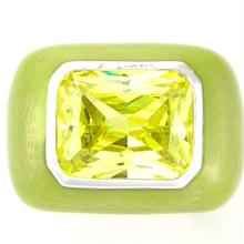Enamel ring green x right green