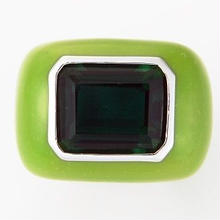Enamel ring green x green
