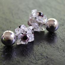 Ciita--Monstre Earrings Purple x Silver