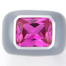 Enamel Ring Gray x Pink