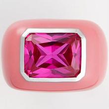 Enamel ring pink x pink