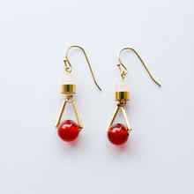ciita-PARTICLE EARRINGS -REDxPINK