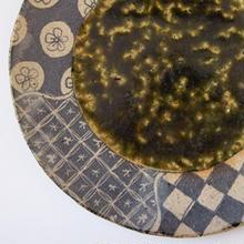志野釉 x 緑釉プレート皿 by 阿部誠 その二