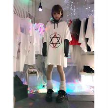 世界征服シースルーフードBIGTシャツ/