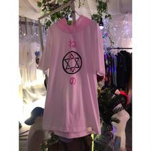 六芒星ねむいのフードBIGTシャツ/HOMELESS PARTY.×神様ごっこ