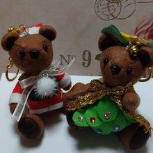 くまキーホルダー,クリスマスバージョン