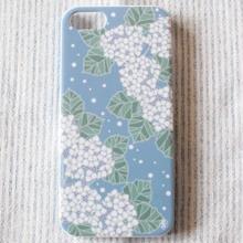 iPhone5&5s&SEカバー 紫陽花
