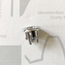 Mercedes-Benz 純正 W116 クロームメッキ ドアロックピンカバー