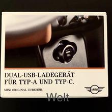MINI 純正品 デュアル USBチャージャー TypeA & C