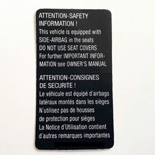 US VW 純正  ATTENTION SAFETY INFORMATION  ステッカー