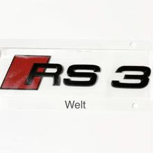 Audi 純正品 RS3 8V  グロス ブラック リア エンブレム