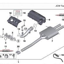 BMW MINI 純正 JCW チューニングキット ラベル