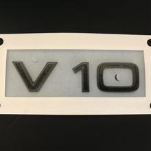 Audi 純正 R8(4S) V10 グロスブラックサイドエンブレム