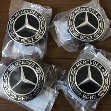 New Mercedes-Benz ホイールセンターキャップ (ブラック ローレルリース)
