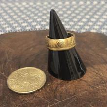 【古銭リング】大型五十銭黄銅貨