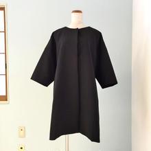 【OFF】黒オフショルダーAラインコート