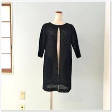 【OFF】紺コットンレース 一枚仕立てコート
