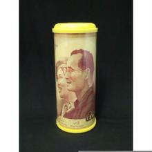 プミポン国王結婚50年記念紙幣柄貯金箱 表側デザイン