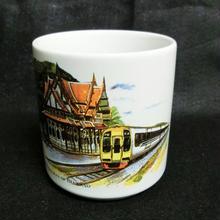タイ国有鉄道(SRT)フワヒン駅マグカップ